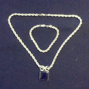 Sterling Silver Necklace. Bracelet, and Pendant